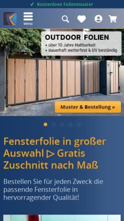 Vorschau der mobilen Webseite www.velken.de, Velken-Folientechnik