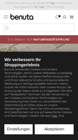 Vorschau der mobilen Webseite www.benuta.de, Benuta GmbH