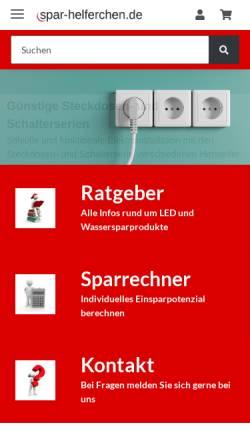 Vorschau der mobilen Webseite www.spar-helferchen.de, Spar-Helferchen, Alexandra Böck