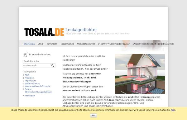 Vorschau von www.leckagedichter.de, TOSALA UG - Achim Himberger