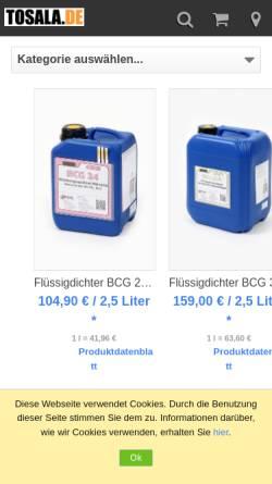 Vorschau der mobilen Webseite www.leckagedichter.de, TOSALA UG - Achim Himberger