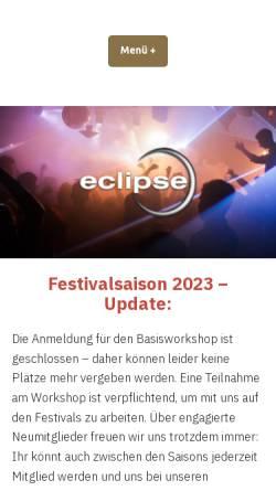 Vorschau der mobilen Webseite eclipse-ev.de, Eclipse e.V.