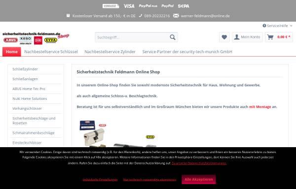 Vorschau von www.sicherheitstechnik-feldmann.de, Sicherheitstechnik Feldmann
