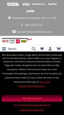 Vorschau der mobilen Webseite www.sicherheitstechnik-feldmann.de, Sicherheitstechnik Feldmann