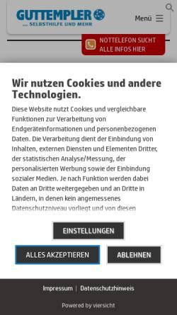 Vorschau der mobilen Webseite www.guttempler-berlin.com, Guttempler in Berlin und Brandenburg e.V.