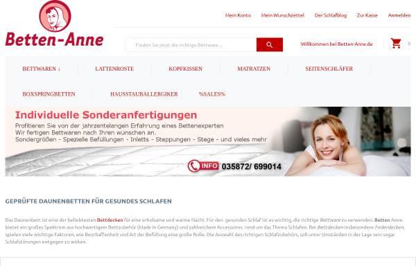 Vorschau von www.betten-anne.de, Betten Anne, Wieland Neumann