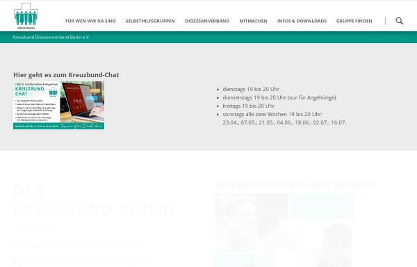 Vorschau von kreuzbund-berlin.de, Kreuzbund Diözesanverband Berlin e.V.