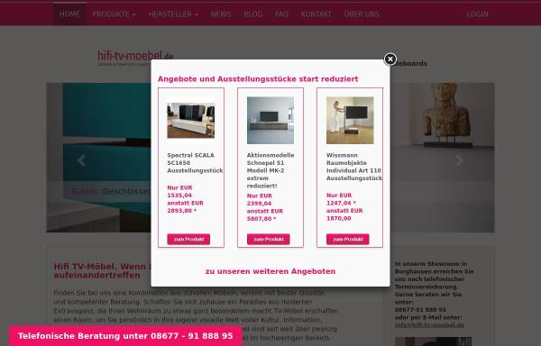 Vorschau von www.hifi-tv-moebel.de, Hifi-tv-moebel.de / audio objekte, Inhaber Uwe Polch