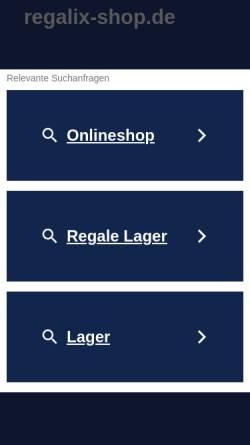 Vorschau der mobilen Webseite www.regalix-shop.de, regalix-shop.de - Ivo Lavetti