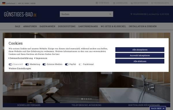 Vorschau von www.guenstiges-bad.de, JATO Handels GmbH