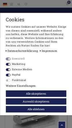 Vorschau der mobilen Webseite www.guenstiges-bad.de, JATO Handels GmbH