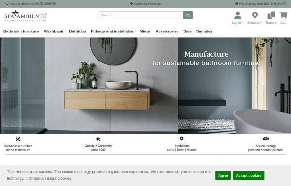 Vorschau von www.natursteinwaschbecken.com, Spa Ambiente GmbH