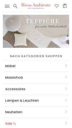 Vorschau der mobilen Webseite www.riess-ambiente.net, riess-ambiente.de GmbH