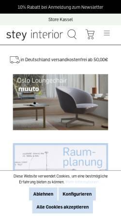 Vorschau der mobilen Webseite www.stey-shop.de, Stey Interior Markus Zenker