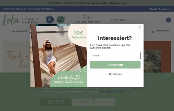Vorschau von www.lola-haengematten.de, Lola Hängematten, Inh. Miroslav Dinic