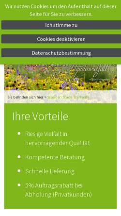 Vorschau der mobilen Webseite stauden-stade.de, Staudenkulturen Stade - Der Stauden Shop im Internet