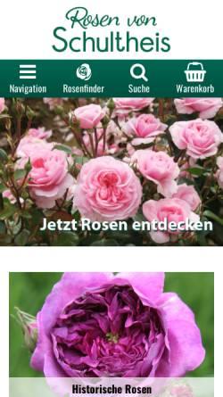 Vorschau der mobilen Webseite www.rosenhof-schultheis.de, Rosenhof- Schultheis