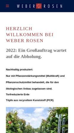 Vorschau der mobilen Webseite www.weber-rosen-shop.de, Weber Rosen - Harald Hallen
