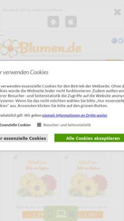 Vorschau der mobilen Webseite www.blumen.de, Blumen.de MSB GmbH