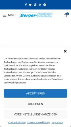 Vorschau der mobilen Webseite www.berger-seidle.shop, Palatina Werkstatt GmbH