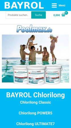 Vorschau der mobilen Webseite www.poolmax.de, Stoll GmbH. Kerstin Stoll Gremm & Jörg Stoll