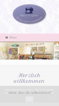 Vorschau der mobilen Webseite www.maxundgrete.de, Max & Grete, Katrin Haneklaus-Klingsiek