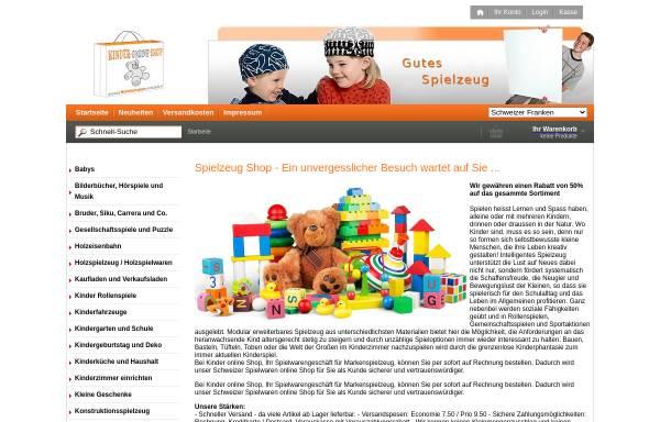 Vorschau von www.kinder-online-shop.ch, Kinder Online Shop GmbH