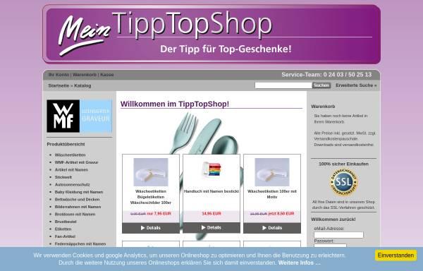 Vorschau von www.tipptopshop.com, TippTopShop UG