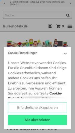 Vorschau der mobilen Webseite laura-und-felix.de, Buy Sell Online, Oliver Klein