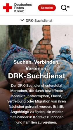 Vorschau der mobilen Webseite www.drk.de, DRK-Suchdienst