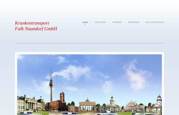 Vorschau von www.berliner-krankentransport.de, Krankentransport Falk Naundorf GmbH