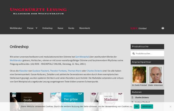 Vorschau von www.ungekuerzte-lesung.de, www.ungekuerzte-lesung.de