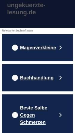 Vorschau der mobilen Webseite www.ungekuerzte-lesung.de, www.ungekuerzte-lesung.de