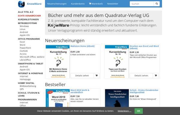 Vorschau von www.knowware.de, Quadratur-Verlag UG
