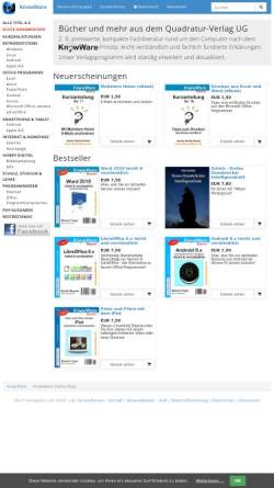 Vorschau der mobilen Webseite www.knowware.de, Quadratur-Verlag UG