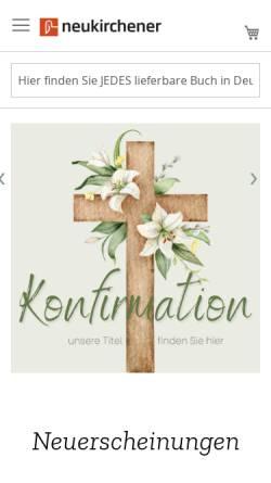 Vorschau der mobilen Webseite www.neukirchener-verlage.de, Neukirchener Verlagsgesellschaft