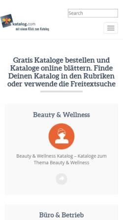 Vorschau der mobilen Webseite www.katalog.com, Katalog.com, Ralf & Peter G. Schambier