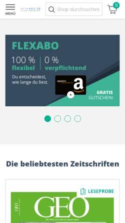 Vorschau der mobilen Webseite www.meinabo.de, MSP Medien-Service und Promotion GmbH