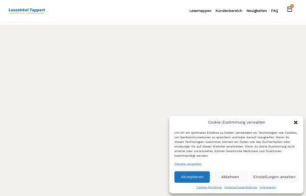 Vorschau von www.lesezirkel-tappert.de, Lesezirkel Tappert