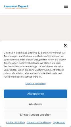 Vorschau der mobilen Webseite www.lesezirkel-tappert.de, Lesezirkel Tappert
