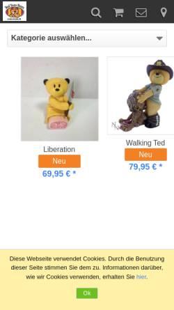 Vorschau der mobilen Webseite www.btbears.de, BTBears, Björn Gebbert