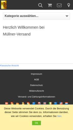 Vorschau der mobilen Webseite www.muellner-versand.de, Müllner-Versand