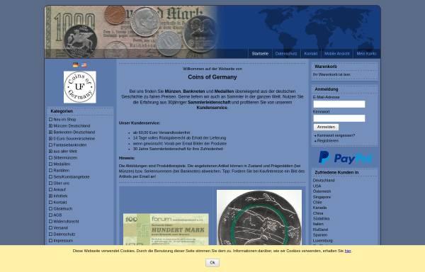 Vorschau von www.coins-of-germany.com, Coins of Germany, Uwe Fleischer