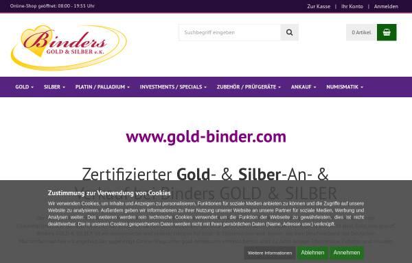 Vorschau von www.gold-binder.com, Binders GOLD & SILBER, Bodo Binder