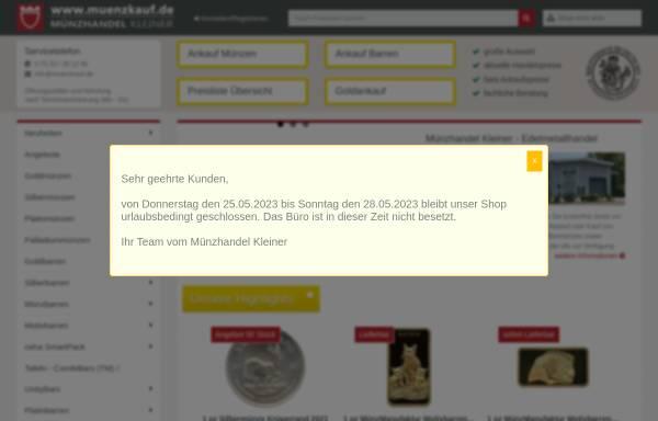 Vorschau von www.muenzkauf.de, Kleiner Münzhandel GmbH