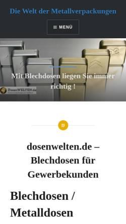 Vorschau der mobilen Webseite www.dosenwelten.de, Die Schmuckdose mit individueller Bedruckung