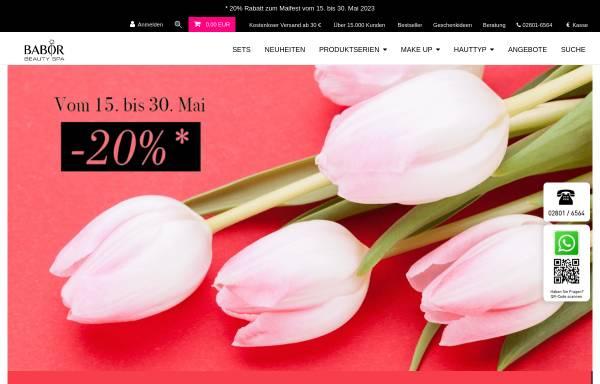 Vorschau von www.babor-beautyspa-bercker.de, Ruth Bercker GmbH