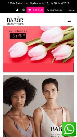 Vorschau der mobilen Webseite www.babor-beautyspa-bercker.de, Ruth Bercker GmbH