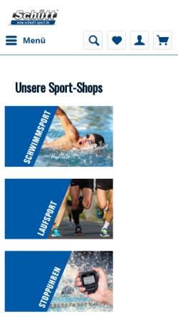 Vorschau der mobilen Webseite www.schuett-sport.de, Schütt Handelsgesellschaft mbH