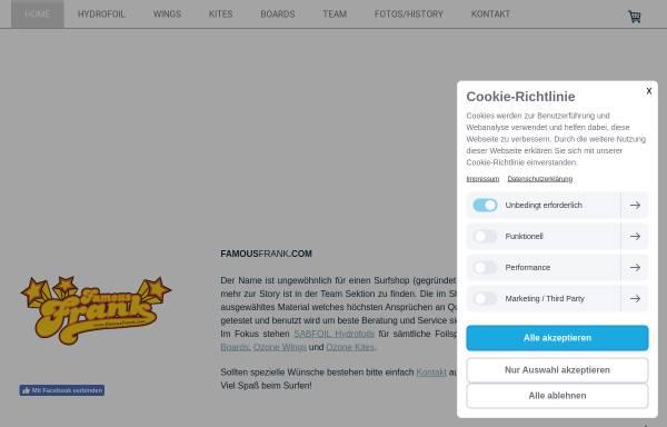 Vorschau von www.famousfrank.de, FamousFrank, Frank Rosin